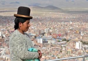 Cholita à Oruro