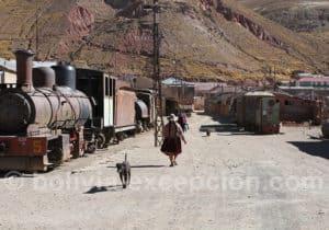 Pulacayo, région de Potosi en Bolivie