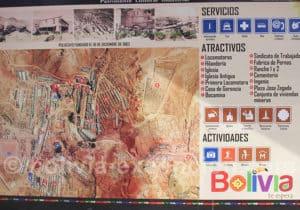 Plan de la ville minière de Pulacayo