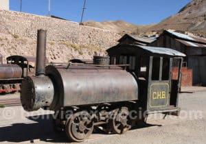 Vieille locomotive à Pulacayo
