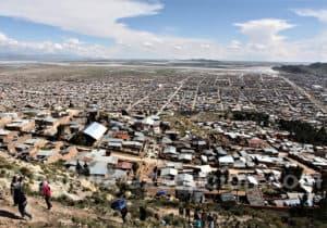 Vue d'Oruro depuis la Vierge