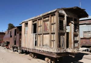 Wagon antique, musée de Pulacayo