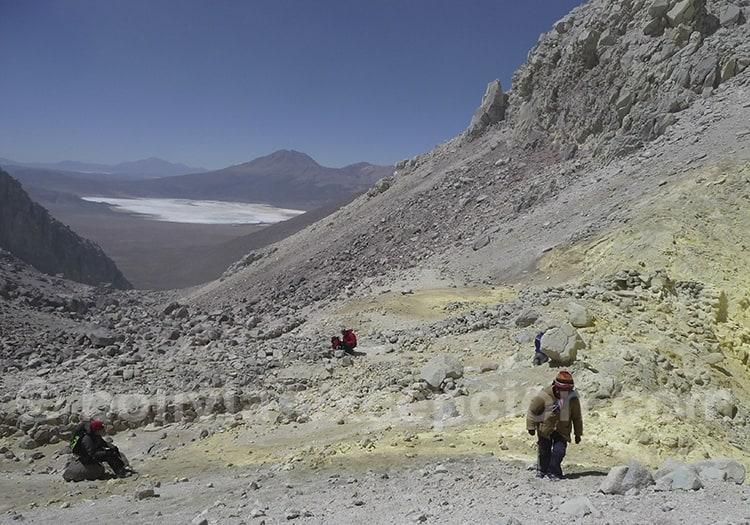 Ascension du volcan Iruputuncu Bolivie