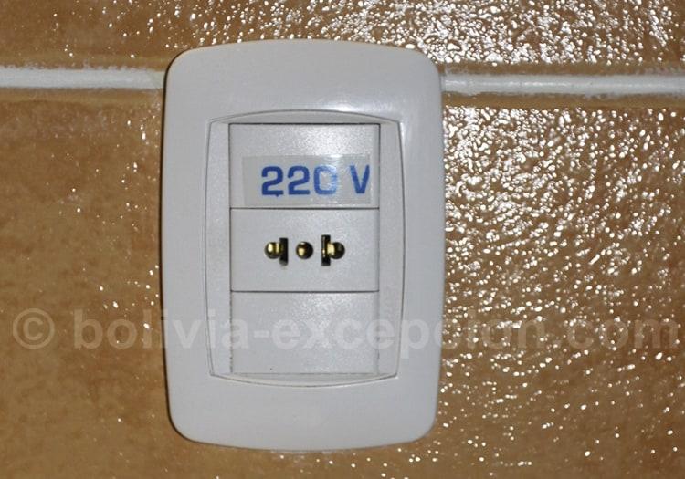 Électricité 220V, Bolivie