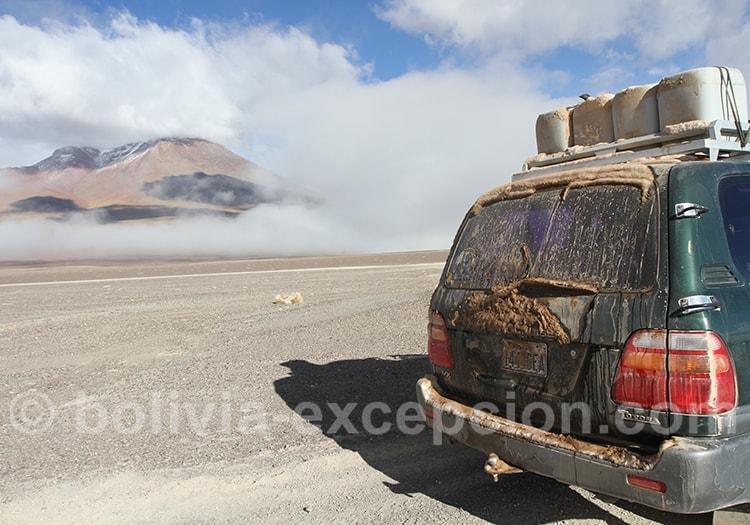 En mars en Bolivie les piste sont en mauvaise état