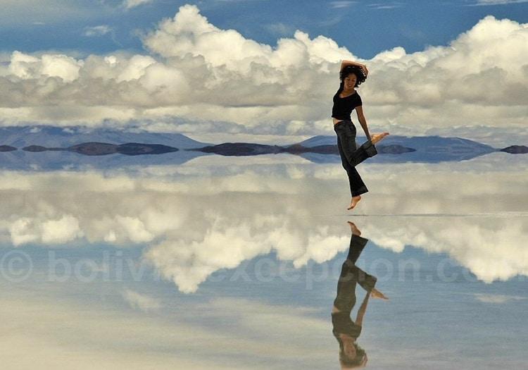 Février on marche sur l'eau à Uyuni