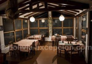 Salle à manger Refugio Los Volcanes
