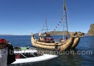 Embarcation antique en roseaux