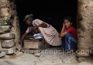 Préparation de crêpes, région de Tarija