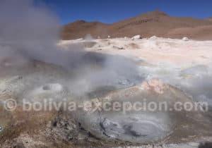 Champ de geysers sur le route du Lipez